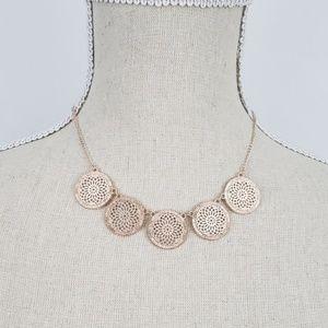 Gold filigree medallion jewelry